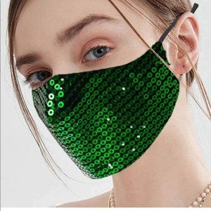 4Pcs Green Sequins
